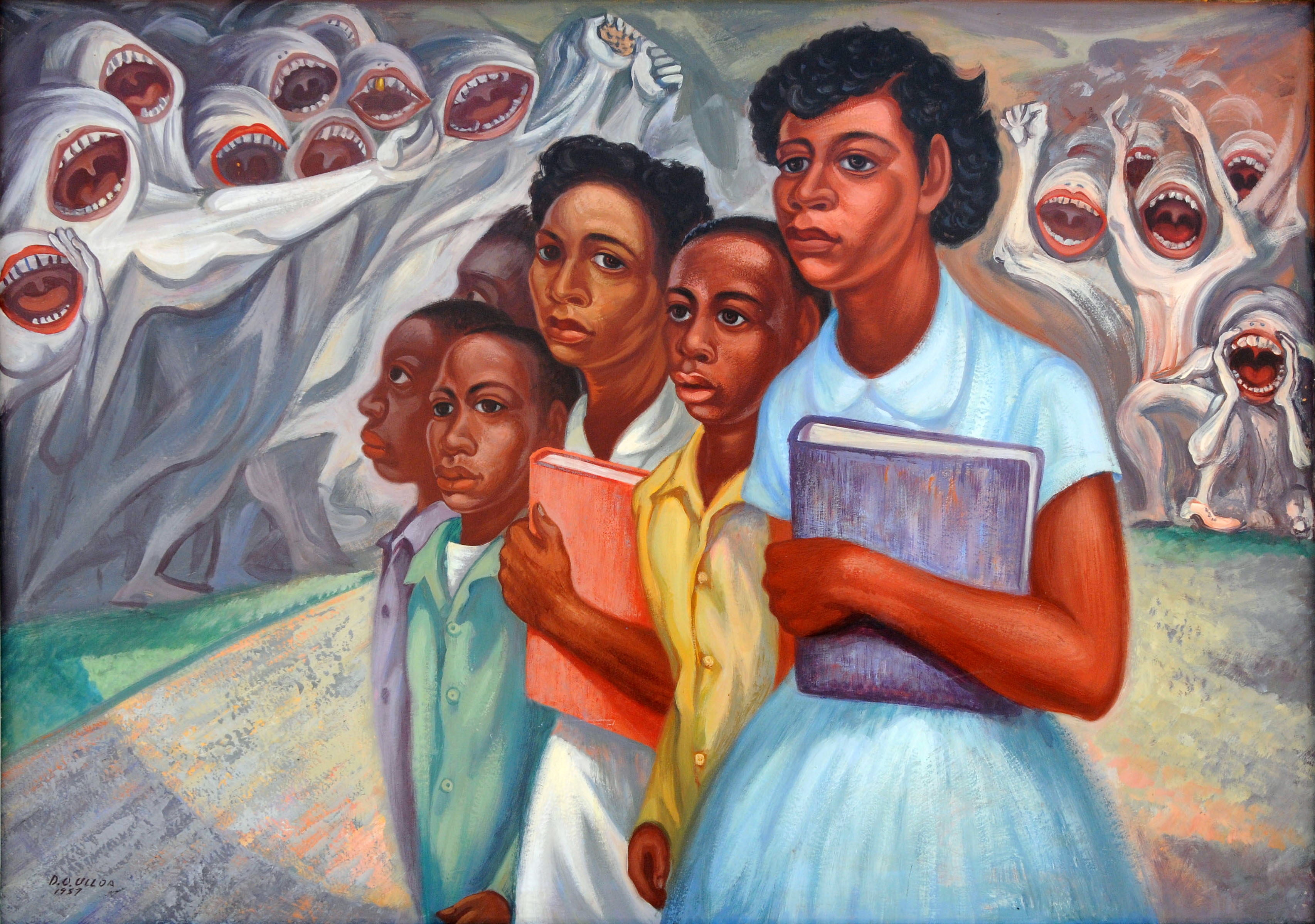 Racism/Incident at Little Rock - Domingo Ulloa, 1957